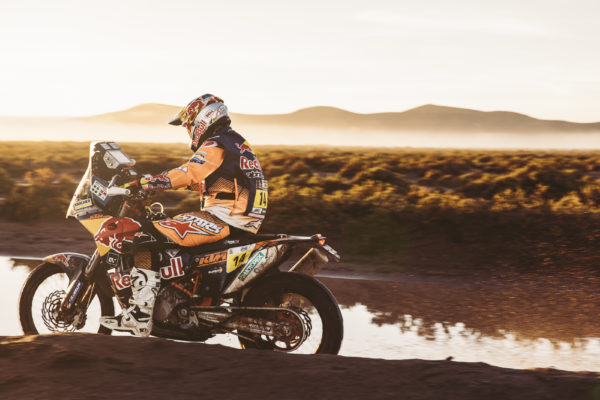 Sam Sunderland (GBR)) of Red Bull KTM Factory Team races during stage 8 of Rally Dakar 2017 from Uyuni, Bolivia to Salta, Argentina on January 10, 2017.