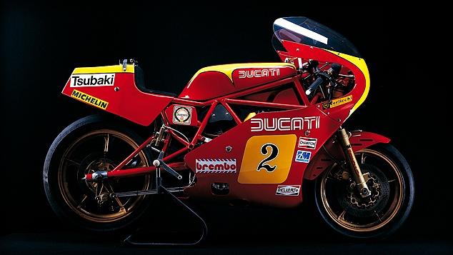 Ducati 600 TT2, realizzata nel 1981 partendo dal motore della Pantah 500. Fu in assoluto la prima Ducati con telaio a traliccio. Il motore fu elaborato portandolo a 597 cc, aumentandone l'alesaggio sino ad 81 mm. Vantava 78 cv a 10'500 giri/minuto ed un peso senza benzina di 140 kg.