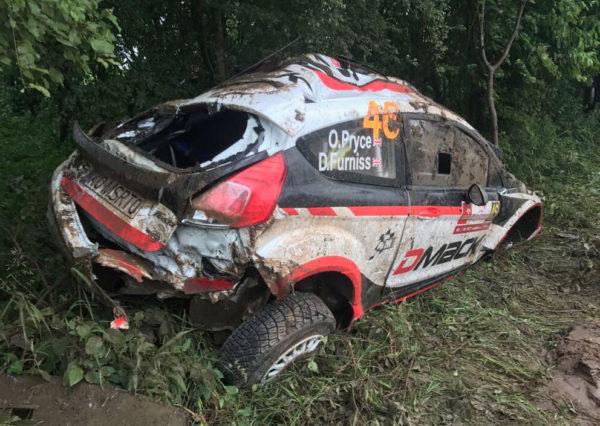 La vettura incidentata di Pryce