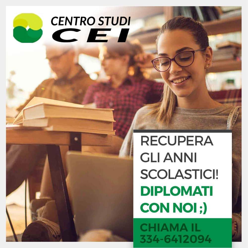 Centro Studi CEI Scuola privata, recupero crediti, materie scolastiche, esami universitari, diploma, lingua inglese, spagnolo, francese