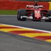 Le FP3 del GP del Belgio si tingono di rosso: Raikkonen e Vettel si tengono dietro Hamilton