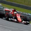 Il primo controllo rassicura Sebastian Vettel: il cambio della sua SF70-H sembra integro