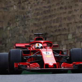 Vettel si prende le FP3 di Baku, Hamilton e Raikkonen inseguono. 12° Ricciardo, a muro Sirotkin