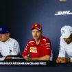 """""""Ci fate domande di merda!"""": Vettel difende Hamilton nella Press Conference del Bahrain"""