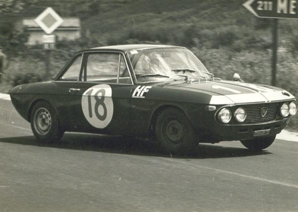 Una Lancia Fulvia 1.2 impegnata alla Targa Florio 1966