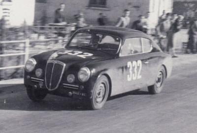 La Lancia Aurelia seconda classificata alla Mille Miglia 1951