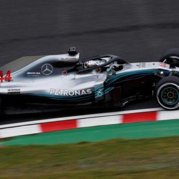 E' 1-2 Mercedes nelle FP1 del GP del Giappone. 3° Ricciardo, staccate le Ferrari
