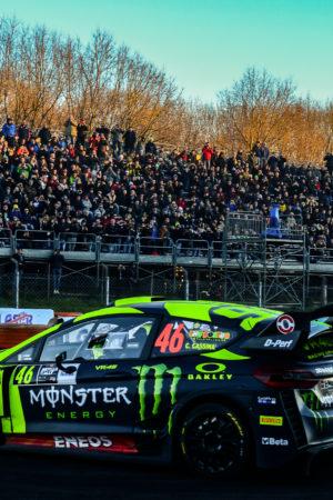 Valentino Rossi si prende tutte le PS del Day 2 del Monza Rally Show. Suninen è lontano