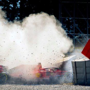 """Ferrari spiega il perché dell'incidente di Vettel: """"Ha ceduto il cerchione anteriore sinistro"""""""
