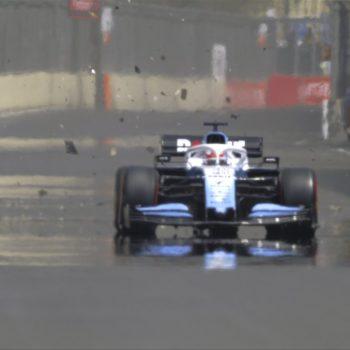 Russell centra un tombino e il carro attrezzi centra un ponte: annullate le FP1 a Baku