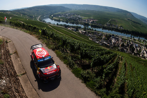 Sebastien Ogier (FRA) Julien Ingrassia (FRA) of team Citroen Total WRT is seen racing at special stage 3/6 Mitelmosel during the World Rally Championship Germany in Bostalsee, Germany on August 23, 2019 // Jaanus Ree/Red Bull Content Pool // AP-21BQMAD6D2111 // Usage for editorial use only //