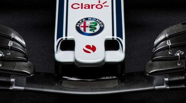 Dettaglio del musetto della Sauber C37