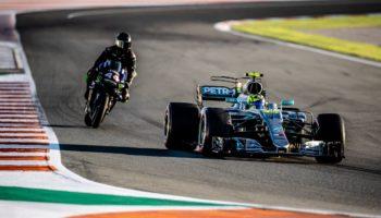 """Rossi: """"Impressionante la tenuta della W08. Lewis? Bravo nonostante il vento e la pista"""""""