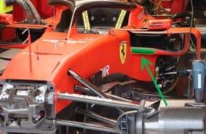 Posizione del cono anti-intrusione nella filosofia Ferrari
