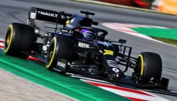 Test Barcellona, Day 3: a metà giornata Ricciardo davanti a Leclerc, ma i tempi mentono