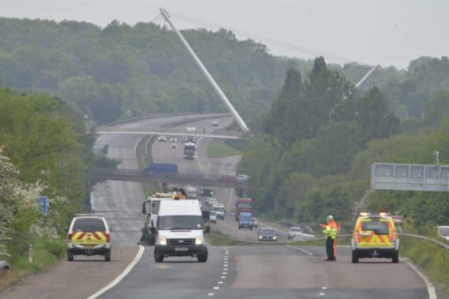 Scena dell'incidente di Stepney. (@kentonline.co.uk)