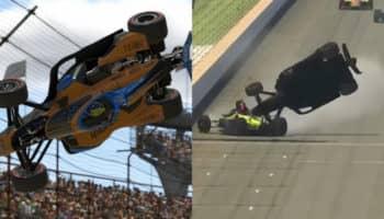 Caos e polemiche alla Indy500 su iRacing: Pagenaud e Ferrucci buttano fuori Norris ed Askew