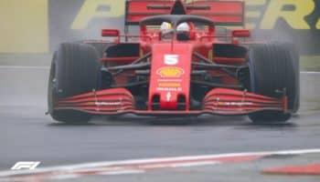 Dalle FP2 bagnate spunta Sebastian Vettel. 2° Bottas, 10° Leclerc, senza crono Hamilton
