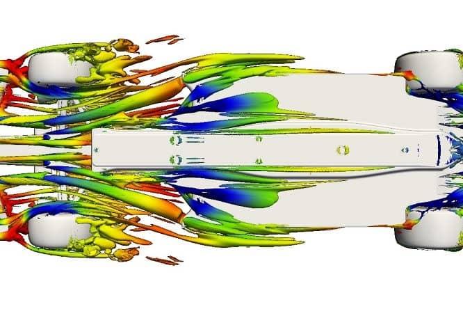 Simulazione al CFD del fondo di una vettura di F1