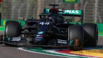 Hamilton si prende le uniche FP di Imola inseguito da Verstappen. 5° Leclerc e 12° Vettel