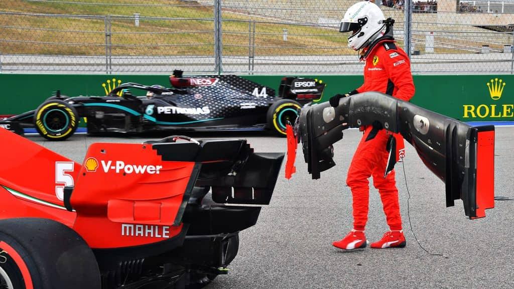 L'incidente in Vettel in russia, causato dal passaggio particolarmente aggressivo dell'asse posteriore sul cordolo, che hanno causato l'improvviso stallo del diffusore, facendo perdere il retrotreno al pilota.