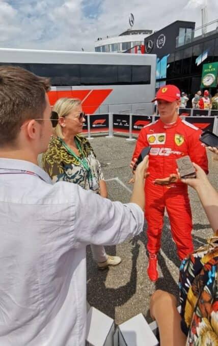Intervista a Mick Schumacher, 2019 German GP.