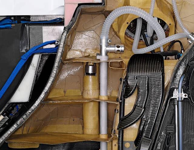 Sezione del serbatoio della Sauber BMW F1.08