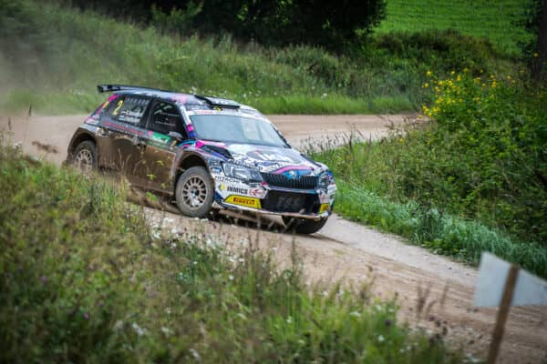 Kalle Rovanpera in azione al Rally Liepaja 2017