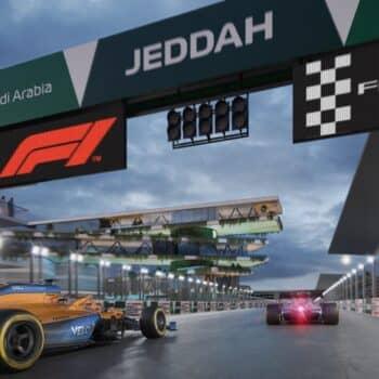 GP d'Arabia Saudita: ecco il primo giro on board (simulato) del Jeddah Street Circuit