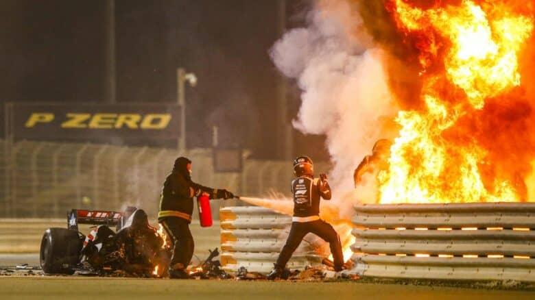 grosjean incidente bahrain formula 1