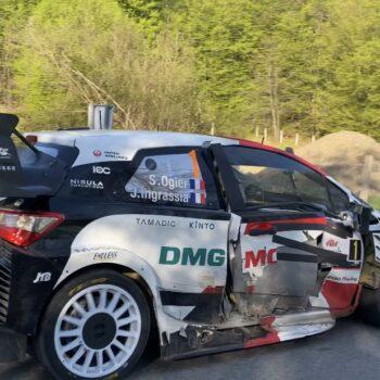 Incidente per Ogier: è stato colpito da un'auto durante un trasferimento nel Rally di Croazia!