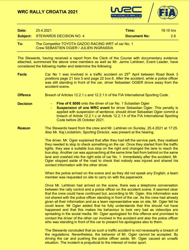 La Steward Decision #4