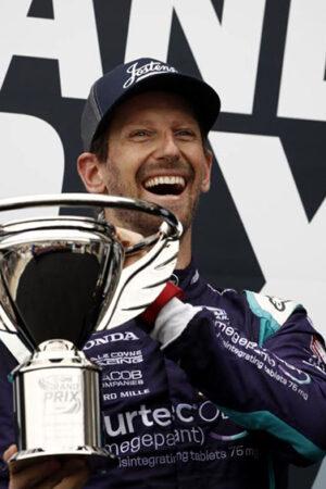 """Grosjean, esordio con pole e 2° posto in Indy! """"Sono troppo felice di essere in pista"""""""