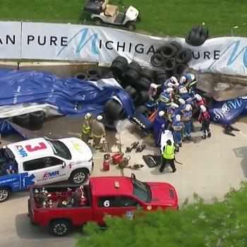 IndyCar Detroit: Felix Rosenqvist è finito a muro per via dell'acceleratore bloccato!